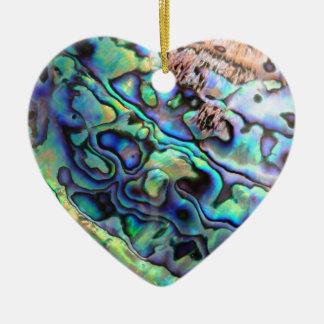 Paua abalone shell detail christmas ornament