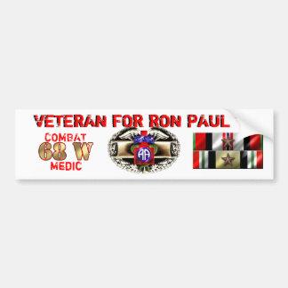 Paul 82nd Medic 18Nov2011 Bumper Sticker