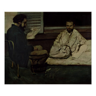 Paul Alexis  Reading a Manuscript Poster