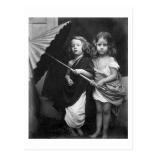 Paul and Virginia ~ Children Portrait 1864 Postcard