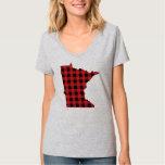 Paul Bunyan Plaid Minnesota tee shirt