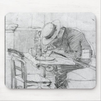 Paul Cesar Helleu at a table in a cafe Mouse Pad