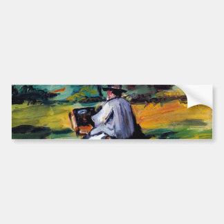 Paul Cezanne A Painter at Work impressionist art Bumper Sticker