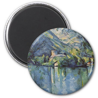 Paul Cézanne - Annecy Lake 6 Cm Round Magnet