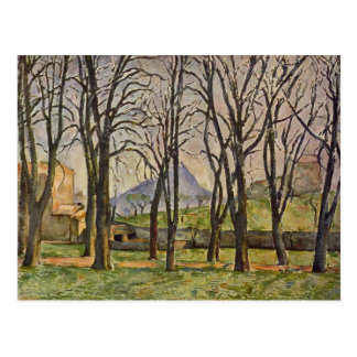 Paul Cezanne: Chestnut Trees in the Jas de Bouffan Postcard