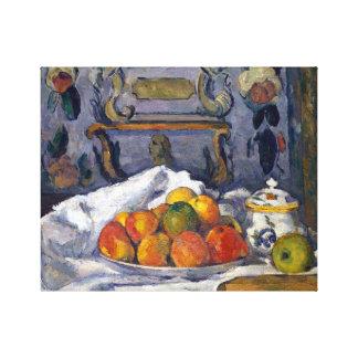 Paul Cezanne Dish of Apples Canvas Print