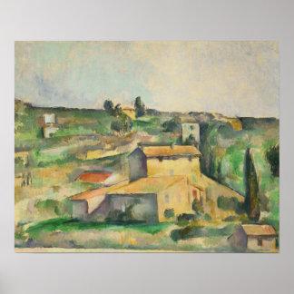 Paul Cezanne - Fields at Bellevue Poster