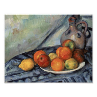 Paul Cezanne - Fruit and a Jug on a Table Photographic Print