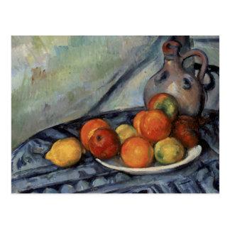 Paul Cezanne - Fruit and a Jug on a Table Postcard