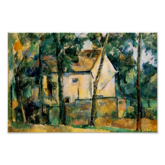 Paul Cezanne- House and Trees Poster