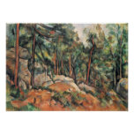Paul Cezanne - In the woods Posters