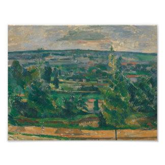 Paul Cezanne - Landscape from Jas de Bouffan Photo