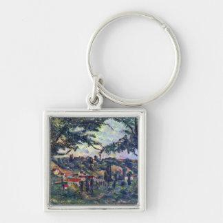 Paul Cezanne - Le Chateau Noir Keychains