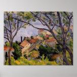 Paul Cezanne- L'Estaque. View through the Trees Print
