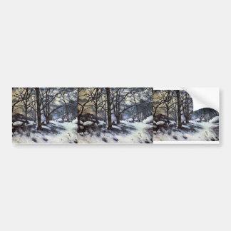 Paul Cezanne- Melting Snow. Fontainbleau Bumper Sticker
