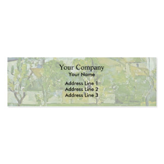 Paul Cezanne- Orchard in Pontoise Business Card Templates