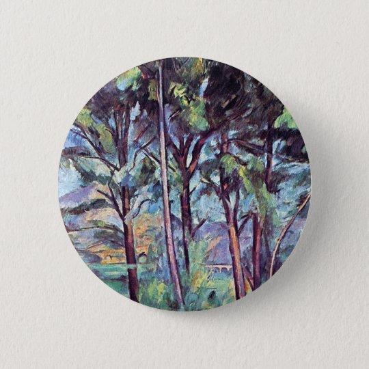 Paul Cezanne - Pines And Aqueduct Fine Art 6 Cm Round Badge