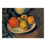 Paul Cezanne - Pomegranate and Pears Still Life Posters