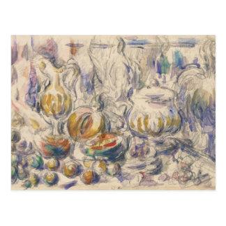 Paul Cezanne - Pot and Soup Tureen Postcard