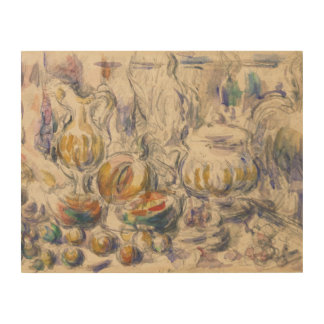 Paul Cezanne - Pot and Soup Tureen Wood Canvas