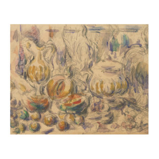 Paul Cezanne - Pot and Soup Tureen Wood Print