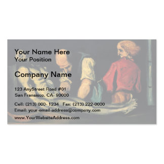 Paul Cezanne- Preparation for the Funeral Business Card Templates