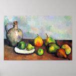 Paul Cezanne - Still life bowl of apples Poster