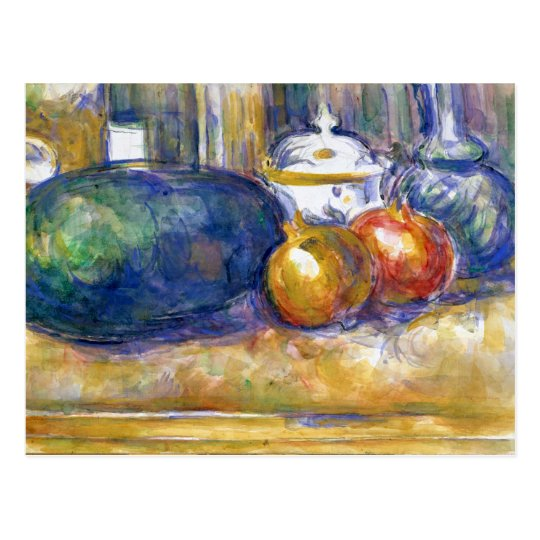 Paul Cezanne Still Life Watermelon Pomegranates Postcard