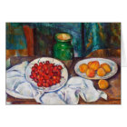 Paul Cezanne Still Life With Cherries And Peaches Card