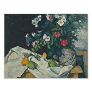 Paul Cezanne - Still Life with Flowers and Fruit Art Photo