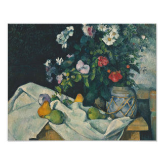 Paul Cezanne - Still Life with Flowers and Fruit Photo Art
