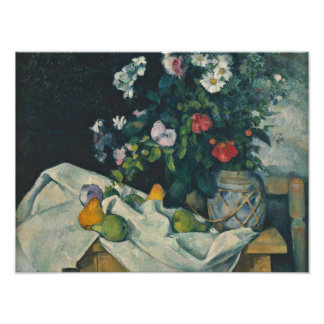 Paul Cezanne - Still Life with Flowers and Fruit Photograph