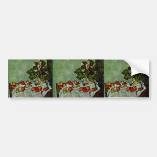 Paul Cezanne-Still life with fruit geraniums Stock Bumper Stickers