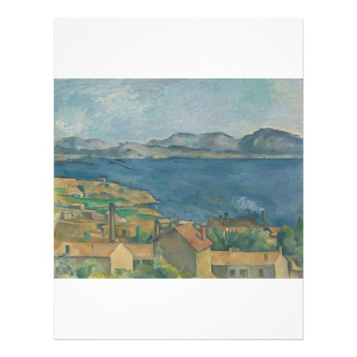 Paul Cézanne - The Bay of Marseilles Full Color Flyer