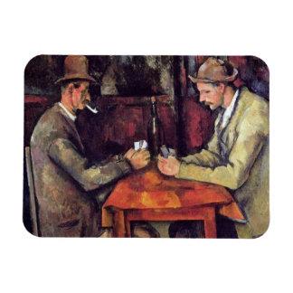 Paul Cezanne - The Card Players Fine Art Painting Rectangular Photo Magnet