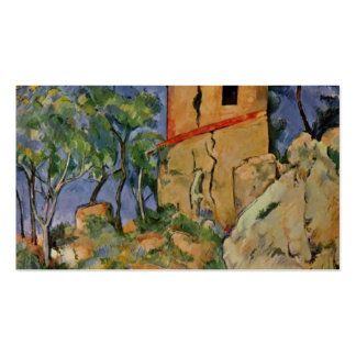 Paul Cezanne- The House with the Cracked Walls Business Card