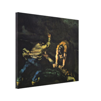 Paul Cezanne - The Murder Stretched Canvas Print