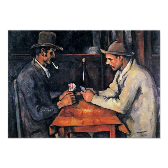 Paul Cezanne - Two card players Poster