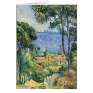 Paul Cezanne- View of L'Estaque and Chateaux d'If Card