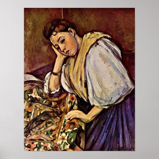 Paul Cezanne - Young Italian girl Poster