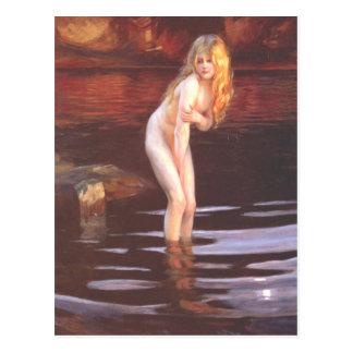Paul Émile Chabas - Baigneuse Bather Postcards