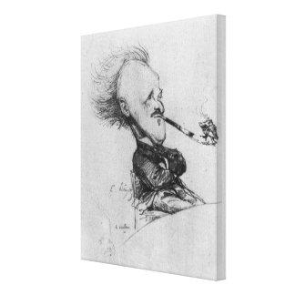 Paul Ferdinand Gachet (1862-1930) c.1887 (pencil o Stretched Canvas Print