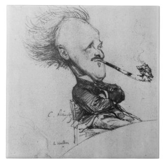 Paul Ferdinand Gachet (1862-1930) c.1887 (pencil o Large Square Tile