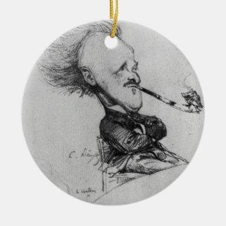 Paul Ferdinand Gachet (1862-1930) c.1887 (pencil o Round Ceramic Decoration
