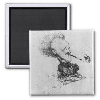 Paul Ferdinand Gachet (1862-1930) c.1887 (pencil o Square Magnet