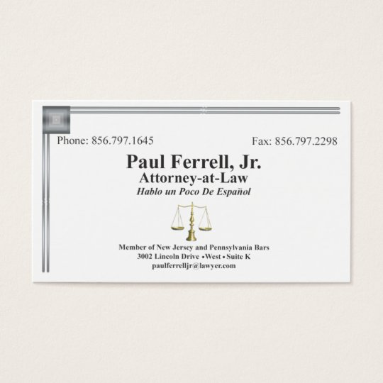 Paul Ferrel, Jr Business Card