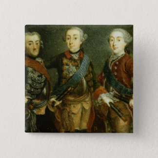 Paul, Frederick II and Gustav Adolph of Sweden 15 Cm Square Badge