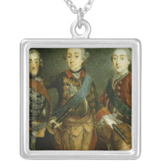 Paul, Frederick II and Gustav Adolph of Sweden Silver Plated Necklace