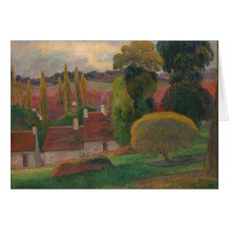 """Paul Gaugin """"A farm in Brittany"""" vintage art Card"""
