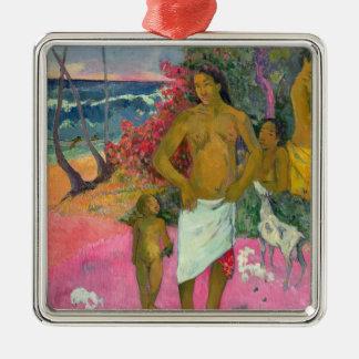 Paul Gauguin | A Walk by the Sea, 1902 Silver-Colored Square Decoration